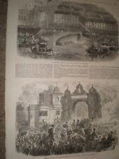 Trial life boat Queenstown & Audley End Saffron Walden 1866 prints ref C