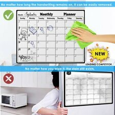 Magnetic Fridge Whiteboard Monthly Weekly Calendar Board Organiser Home Office