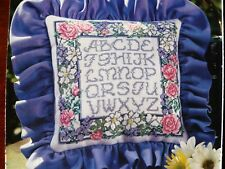 Floral Alphabet counted cross stitch pattern from Oop cross stitch magazine