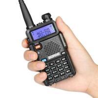 Baofeng UV-5R LCD Dual Band UHF VHF Ham Two Way Radio + Earpiece + Soft Case