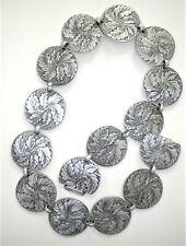 Vintage Hammered Aluminum Leaves Ladies Belt 1940s Wendell August Forge ?