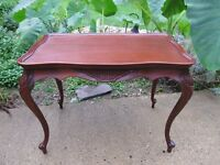 Antique French Louis XV Style Coffee Table / Side Table Mahogany Carved Restored