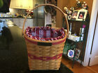 Longaberger Christmas Collection 1998 Glad Tidings Basket Combo Berry Red Stripe