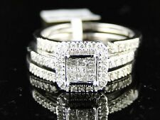 14K Ladies Bridal Engagement Diamond Ring 3 Piece Set