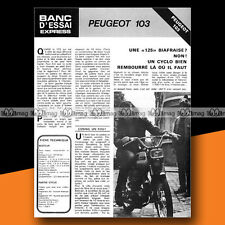 ★ PEUGEOT 50 RALLYE TSR ★ 1972 Essai Cyclo / Original Road Test #a3