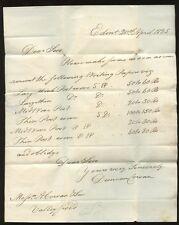 La Scozia 1825 LETTERA CARTA a.cowan + Son penicuick