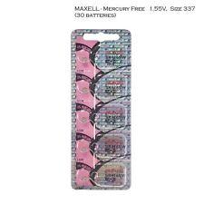 Maxell 337 SR416SW V337 LR416 D337 SR416 Silver Oxide Watch Batteries (30 Pcs)