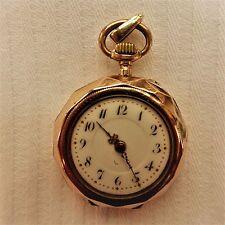 """Dorado (0,333) Mujer - Reloj de bolsillo, """" Mao """", BUENA Función, aprox. 1915"""