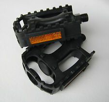 """BMX MTB Road Resin Composite Pedals 9/16"""" NW-99B Black Bicycle Bike Cycle NEW"""