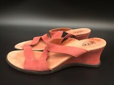 ARCHE Women's Coral Leather Wedge Slide Sandals Size: 9 M Made in France