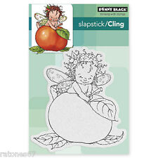 New Penny Black SUGAR PLUM FAIRY Slapstick Cling Rubber Stamp Kid Wings Produce
