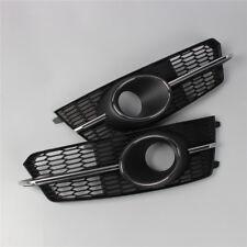 Für AUDI S6 15-18 S-Line Paar Stoßstange Nebelscheinwerfer Gitter ACC Abdeckung