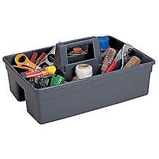 "Contico Plastic Tool Tote,2 Pockets,15-3/4""x11&# 034;x6-3/4"", 6111Gy, Gray"