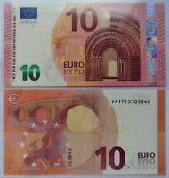 ESPAÑA SPAIN  10 euros de 2014, P-21v, serie VA, firma Draghi. Plancha UNC.