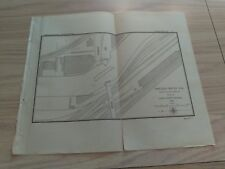 1897 Chicago River Channel Draws at Erie Street Bridge Illinois Diagram Map
