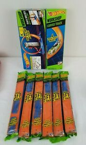 NIB Hot Wheels Curved Track and Quick Kick Loop and 6 Packages of Straight Track