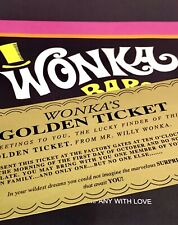 Willy Wonka and the Chocolate Factory Wonka Bar Print & Golden Ticket
