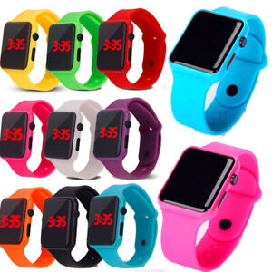 Fashion Electronic Digital Waterproof LED Display Watch For Boy Girl Kids Gifts