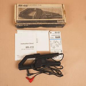 Fluke 80i-10 DC/AC Multimeter Current Probe w Box + Manual