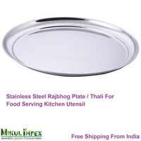 Metal Stainless Steel Water Plate Countertop Food Salad Home Kitchen Utensil O3