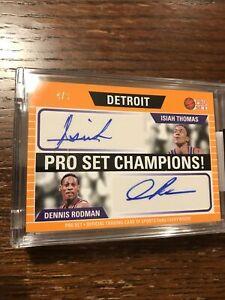 2021 Leaf Pro Set Auto Isiah Thomas Dennis Rodman 4/6