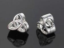 Triquetra Charm Celtic European Silver Knot Bead f/ European Charm Bracelet