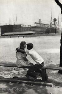 1947 Vintage HENRI CARTIER-BRESSON Hoboken Young Couple Romantic Photo Art 16x20