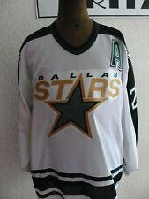 1990s Rare Dallas Stars Ice Hockey Joe Nieuwendyk  Ice Hockey Jersey Signed XXL