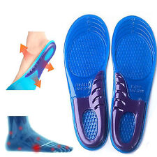 2x Orthotic Comfort Gel Insole Shock Absorber Heel Arch Feet Foot Insert Padded