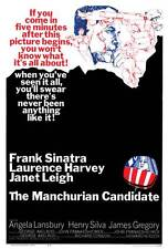 THE MANCHURIAN CANDIDATE Movie POSTER 27x40 Frank Sinatra Laurence Harvey Angela