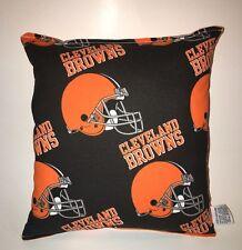 Browns Pillow NFL Pillow Cleveland Browns Pillow Football Pillow HANDMADE IN USA