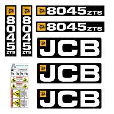 JCB 8045 ZTS decals stickers, repro decal kit