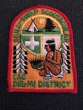 SKILL-SWAP SCOUTACULAR  CAC  DEL-MI DISTRICT BSA PATCH