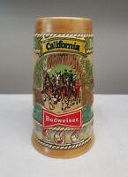 *Budweiser Anheuser Busch California Beer Stein Mug Ceramarte Brazil
