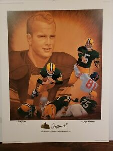 Paul Hornung Autographed Signed Litho Art Print Packers Golden Boy Hall of Fame