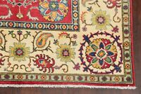 5x7 Geometric Super Kazak Area Rug Hand-Knotted Oriental Wool Bedroom Carpet RED