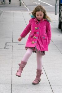 Übergangsjacke ♥  Mantel ♥ pink Häkelblumen ♥ Gr. 4 Jahre 104 ♥ MIM-PI ♥ TOP