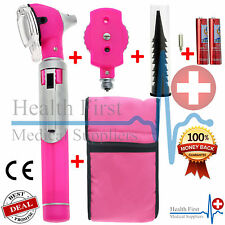 LD F.O Otoscope Ophthalmoscope Opthalmoscope ENT Diagnostic Examination Set Pink
