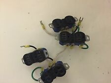 LOT OF 4 EAGLE RECEPTACLES 15A-125V, 2-WIRE