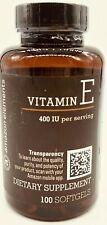 Amazon Elements Vitamin E Transparency Softgels - 400 IU - 100 Softgels