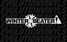 Winter Beater V1 Sticker Decal JDM Stance Drift Illest Hoonigan AWD Subaru EURO