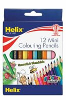 3X Helix Mini Colouring Pencils PN5010 Pack of 12
