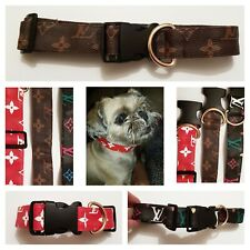Designer Floral Star Style Dog Collar Puppy Pets pu LEATHER Fashion