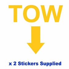 2 x MSA Specification - YELLOW TOW Arrow Race Car Decals / Body Panel Stickers
