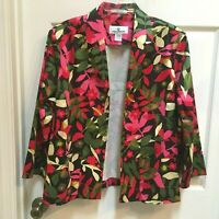 Erin London Blazer Jacket size 1X Bright Multi Colored w/ Open Front