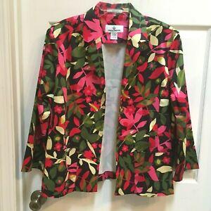Erin London Blazer Jacket size 1X Bright Multi Colored w/ Open Front