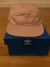Brand New Supreme Washed Chino Twill Camp Cap Pink SS17 c5b7aad12e1a