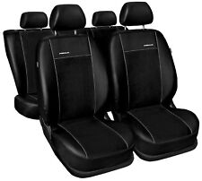 Kunstleder Sitzbezüge Sitzbezug Schonbezüge für Nissan Qashqai Schwarz Set