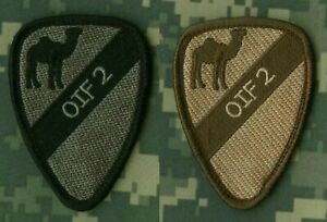 Opération Irakien Freedom 1st Cavalerie Premier Équipe Oif II Arab Camel 2-Patch