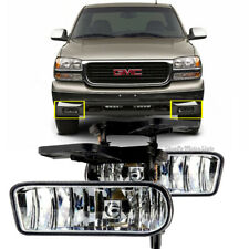 For GMC 99-02 Sierra / 01-06 Yukon Clear Fog Lights Bumper Lamps W/Bulbs